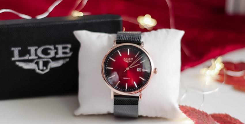 Красивые женские часы LIGE 9