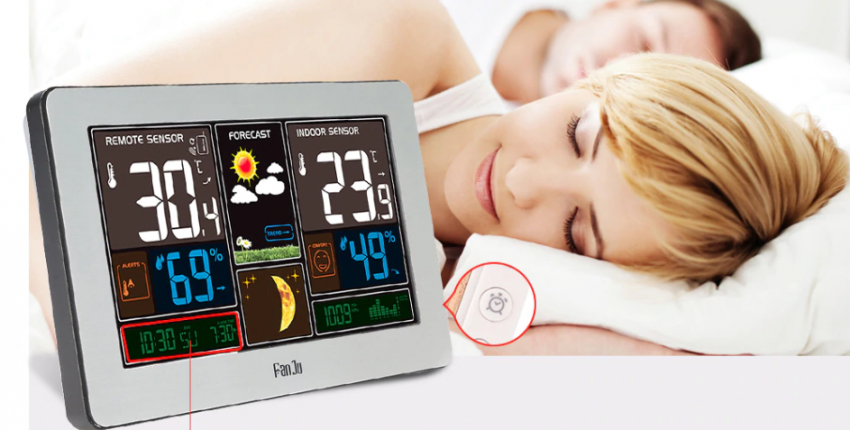 Беспроводная метеостанция цифровые настенные часы барометр термометр гидрометр - отзыв покупателя