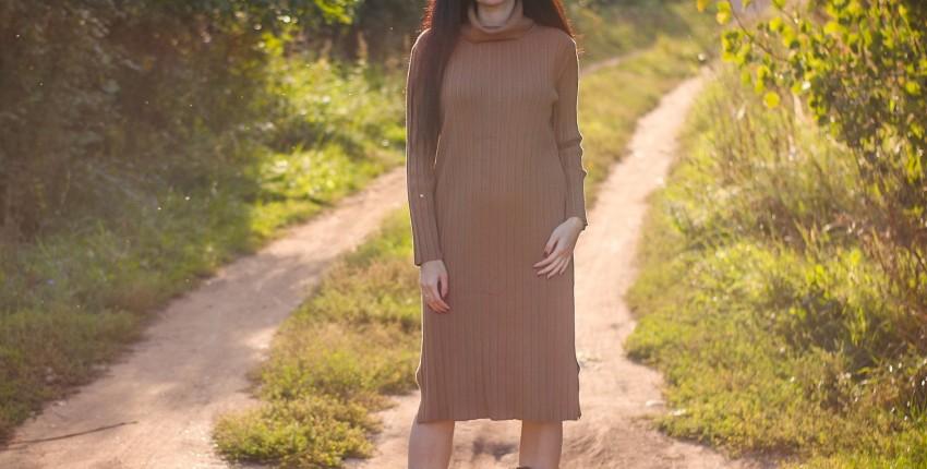 Трикотажное платье EZSSKJ
