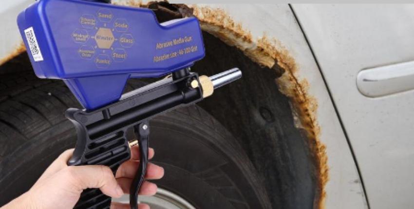 Пескоструйный пистолет для удаления ржавчины, старой краски и т.д. - отзыв покупателя