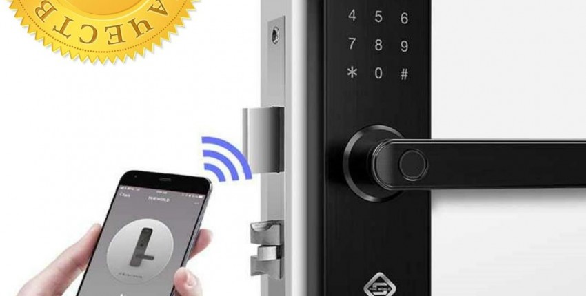 Дверной wi-fi смарт замок Alfawise E202 с удаленным открытием двери