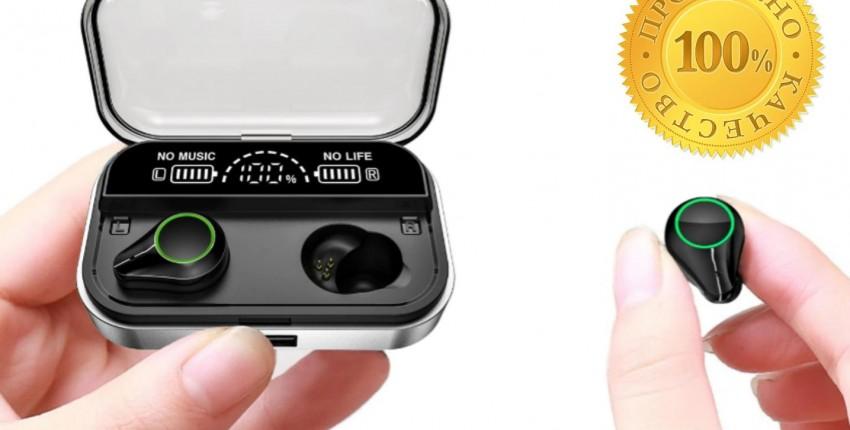 Наушники QCR TWS беспроводные Bluetooth 5,0 дисплей питания сенсорный контроль