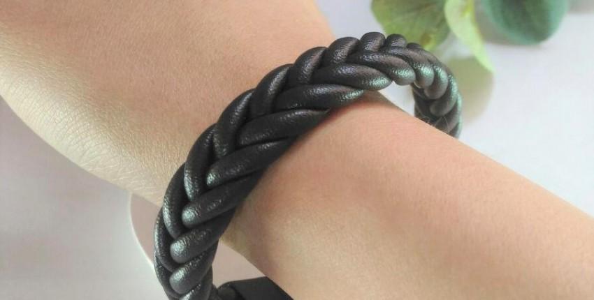 Кожаный плетеный браслет - отзыв покупателя