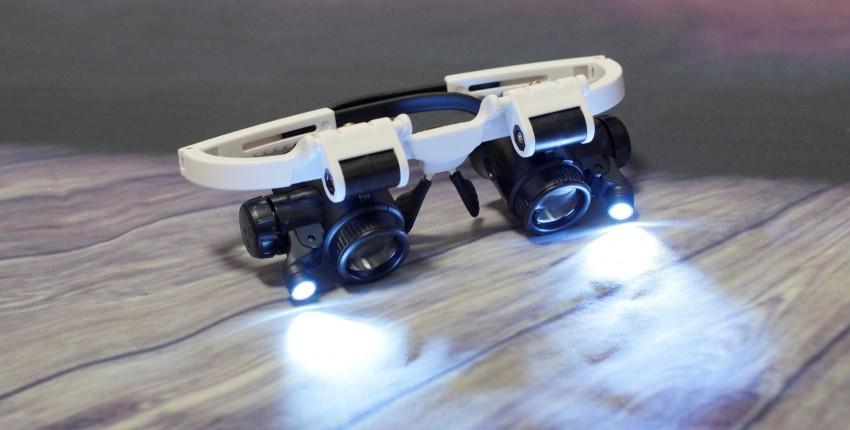 Очки с LED подсветкой и линзами с увеличением в 8 - 23 раз