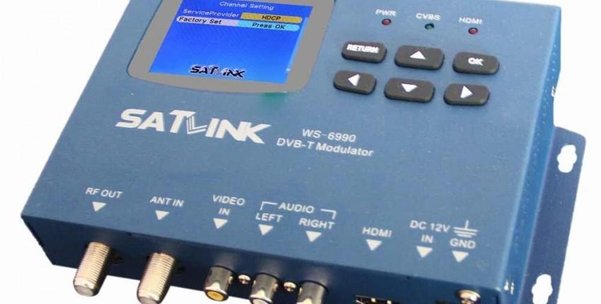 DVB-T WS-6990 модулятор/AV/HD WS-6990 Satlink 6990 цифровой