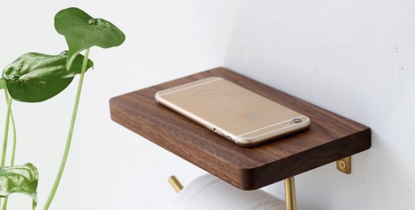 Держатель для туалетной бумаги с полочкой для телефона и разных мелочей - отзыв покупателя