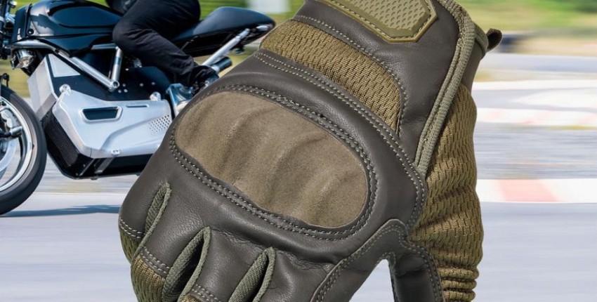 Кожаные мотоциклетные нескользящие перчатки