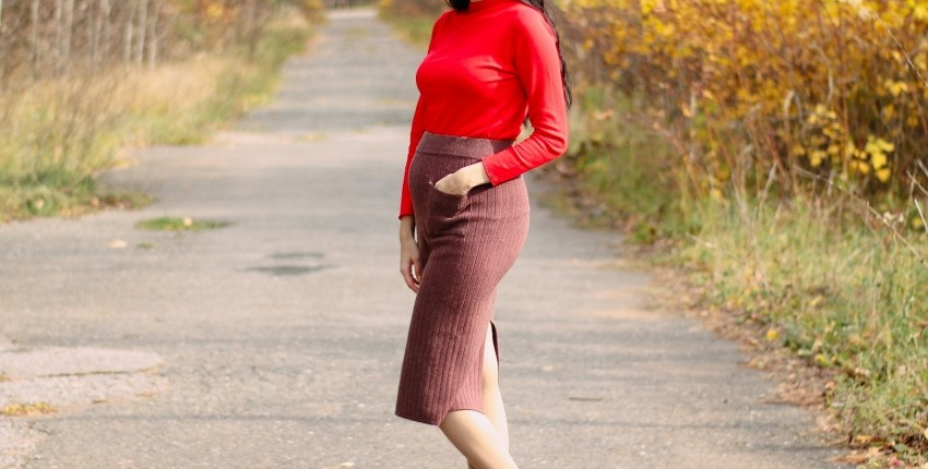 Шерстяная юбка GIGOGOU - отзыв покупателя