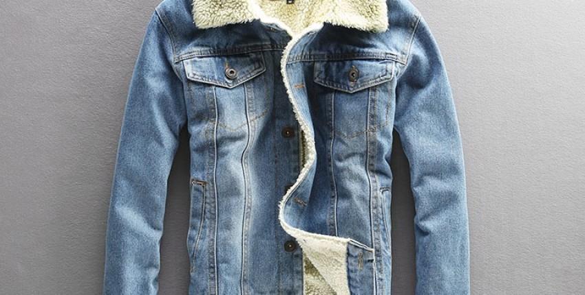 Мужская джинсовая куртка с подкладом под овечий мех - отзыв покупателя