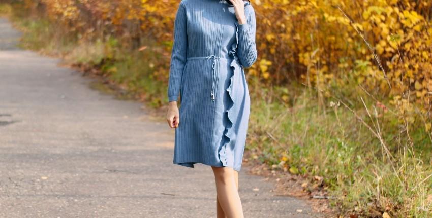 Красивое трикотажное платье GIGOGOU - отзыв покупателя