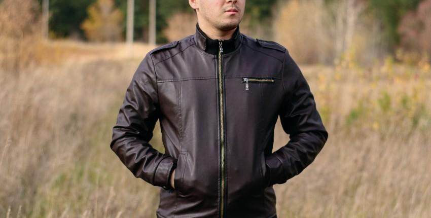 Качественная куртка из кожзама AELEGATMIS