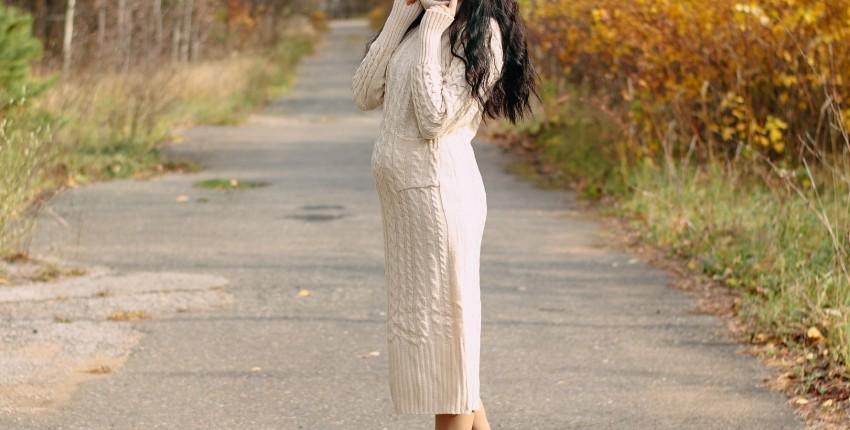 Вязаное платье NAGODO