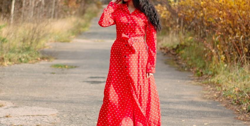 Красное платье в горох  NAGODO - отзыв покупателя