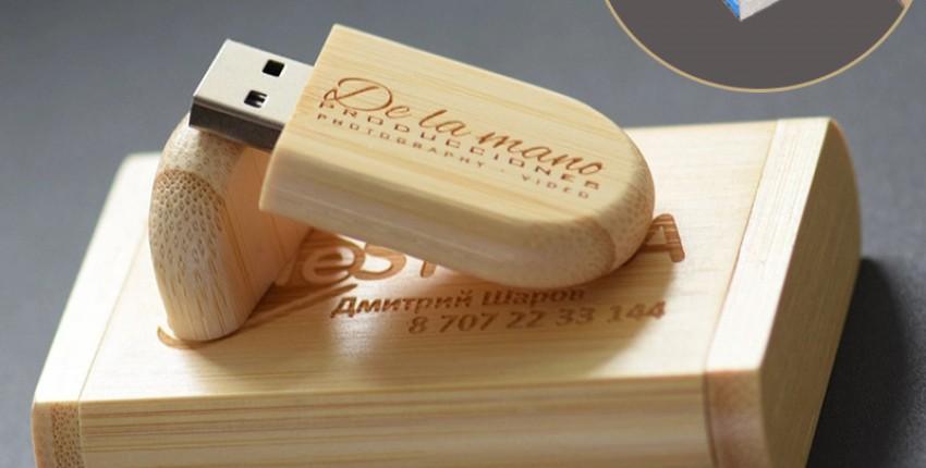 Флешка JASTER USB 3,0 Логотип под заказ деревянный usb  коробка