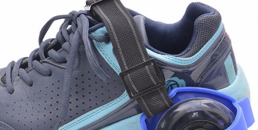 Светящиеся ролики на обувь. Регулируемые.