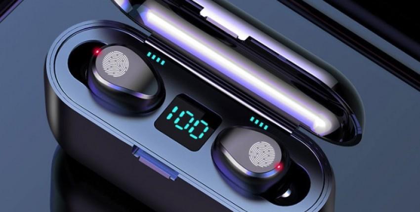 Беспроводные наушники Bluetooth V5.0 F9 TWS. 2000 мАч - отзыв покупателя