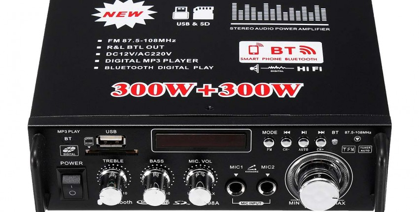 300 Вт  300 Вт 12/220V 2 канала Hi-Fi Стерео усилитель мощности