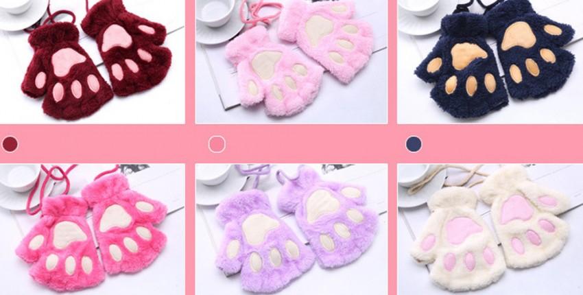 Женские милые пушистые плюшевые перчатки - отзыв покупателя