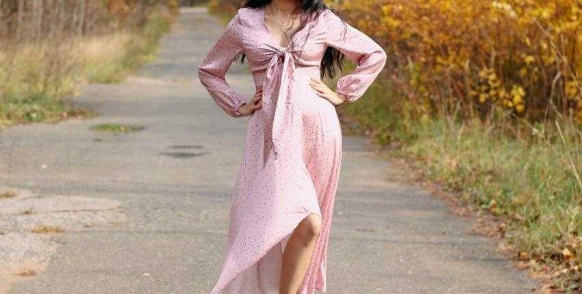 Красивое атласное платье Conmoto - отзыв покупателя