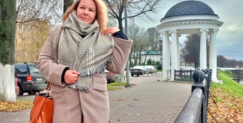 Уютный шарф-плед с классическим рисунком. - отзыв покупателя