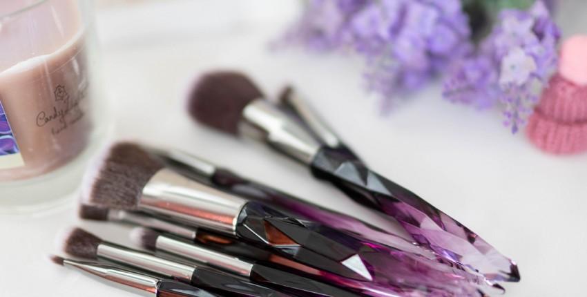 Кристальные кисти для макияжа, шикарный набор 10шт - отзыв покупателя