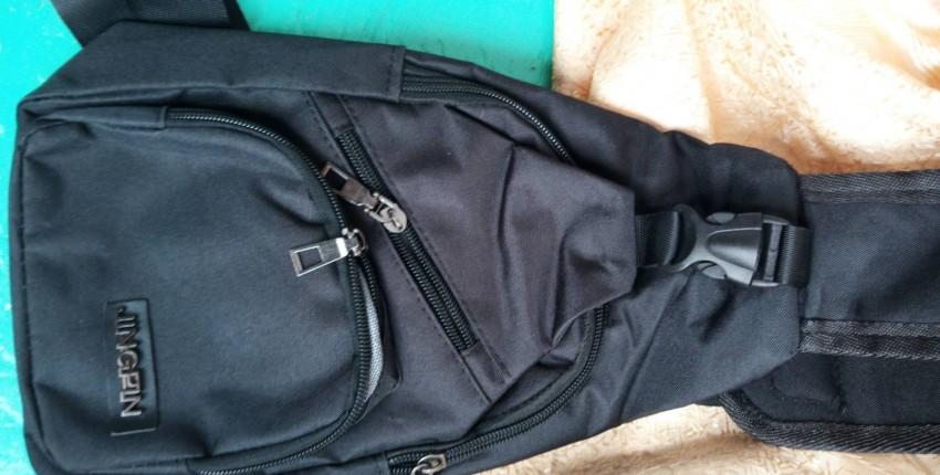 Мужская парусиновая сумка на плечо - отзыв покупателя