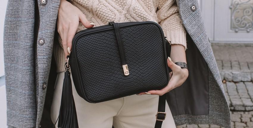 Черная матовая сумка под змейку с Алиэкспресс