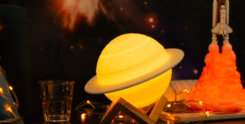 Крутая лампа в виде планеты с Алиэкспресс - отзыв покупателя