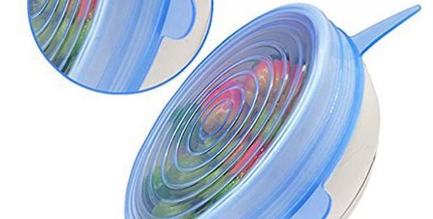 6pcs Reusable silicon stretch lids Silicone food wrap bowl.