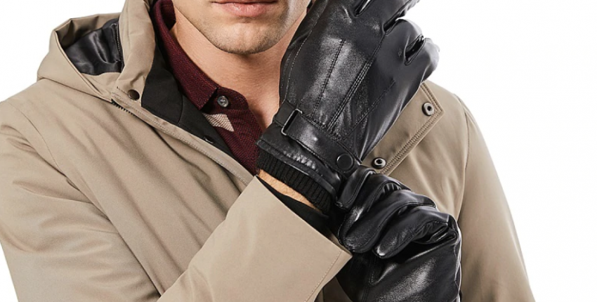 Кожаные мужские перчатки с Алиэкспресс за 516 рублей - отзыв покупателя