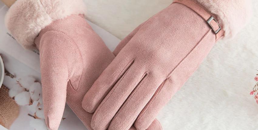 Женские перчатки для сенсорного экрана с Алиэкспресс за 107 рублей
