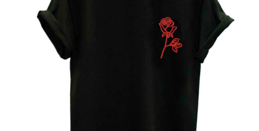 Футболка с розой.  Ядовитые розы.