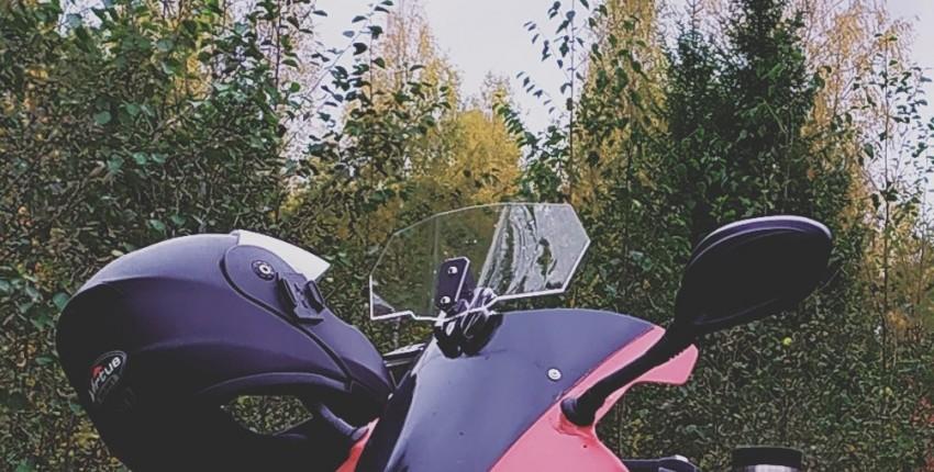 Универсальный дефлектор ветрового стекла для Yamaha, Honda, Kawasaki, BMW Ducati и т.д. - отзыв покупателя