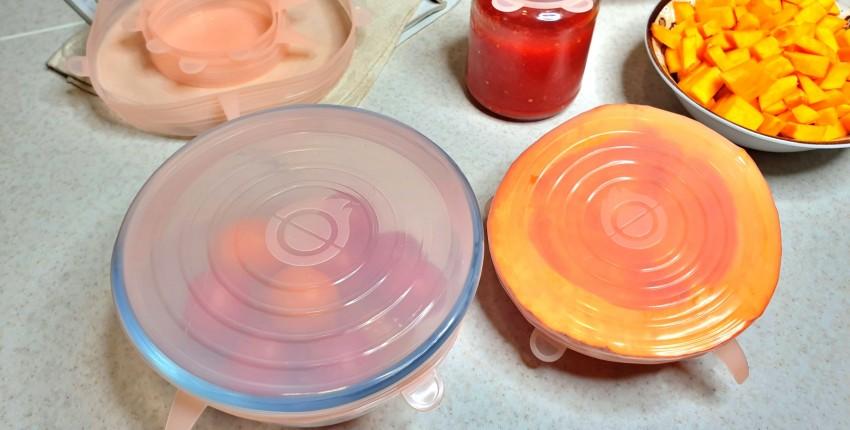 Эластичные силиконовые крышки для посуды