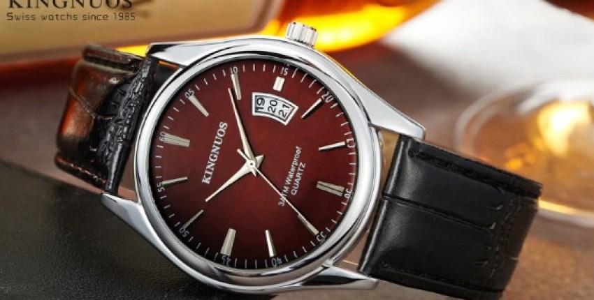 Relogio Masculino часы для мужчин бизнес класса от KINGNUOS