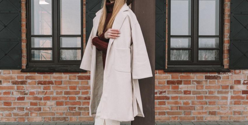 Кремово-белое пальто с Алиэкспресс