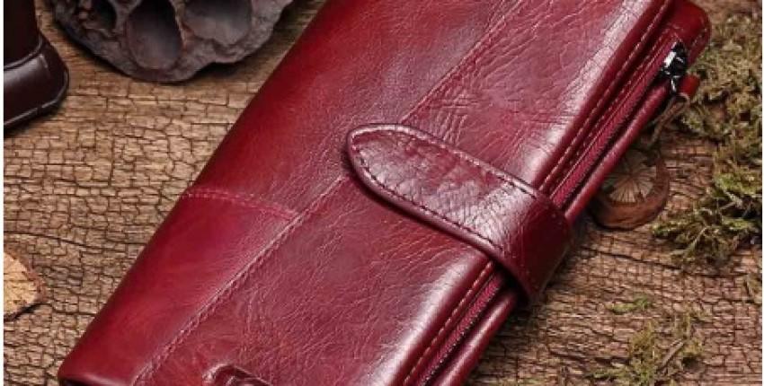 Женский кошелек из натуральной кожи фирмы GZCZ из магазина AliExpressGZCZ Official Store - отзыв покупателя