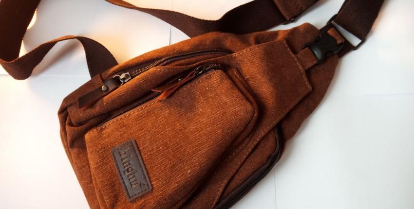 Холщовая мужская сумка через плечо - отзыв покупателя