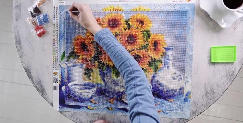Алмазная живопись: отличный подарок с Алиэкспресс от 220 рублей - отзыв покупателя