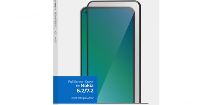 Защитное стекло InterStep FSC для Nokia 6.2/7.2 Black - отзыв покупателя