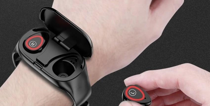 LEMFO M1 Smart Watch Auriculares Bluetooth Dos en uno! LEMFO T89 TWS Smart
