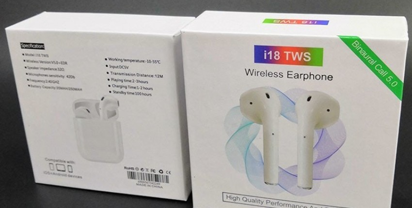 AirPods 2 AURICULARES TOP i18 TWS Auriculares inalámbricos Bluetooth