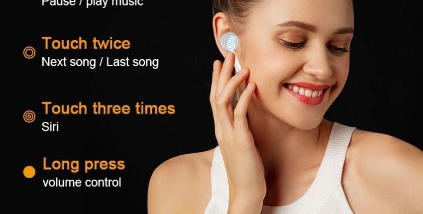 i300 TWS bluetooth auriculares, sensor inteligente PK W1 H1 chips inalámbricos auriculares i10 i7s - opinión del cliente