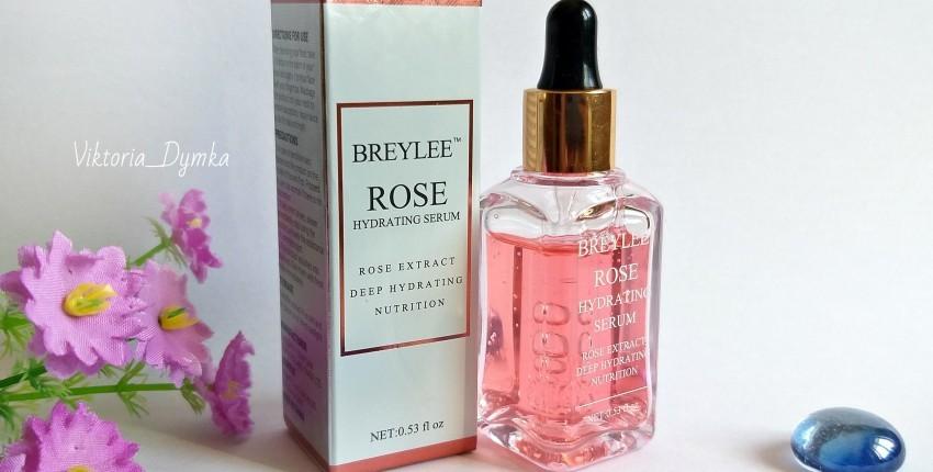 El suero facial BREYLEE contiene un extracto de rosa natural que proporciona suavidad e hidratación - opinión del cliente