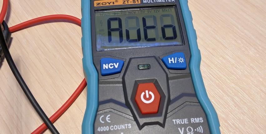 Автоматический мультиметр ZOYI ZT-S1 - отзыв покупателя