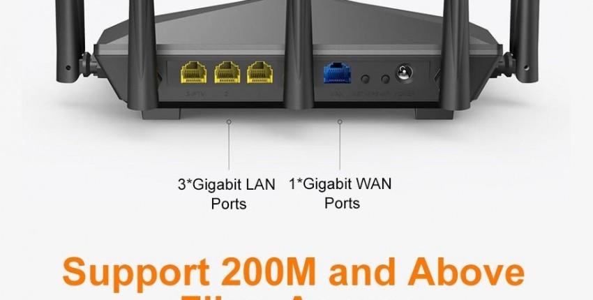Novo Tenda AC11 Gigabit de banda dupla AC1200 Router sem fio Wi-Fi