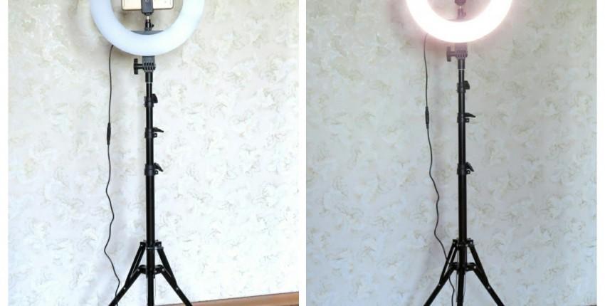 Anel de luz LED em um tripé por Travor