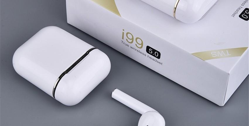 i99 TWS Bluetooth 5,0 fones de ouvido sem fio fones de ouvido com controles de toque - comentários do cliente