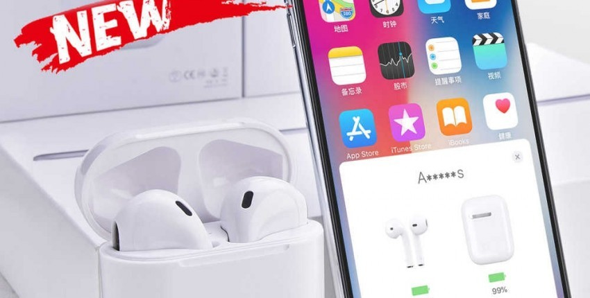 I2000 Tws Aire Pop-up 1:1 Replica fones de ouvido sem fio Bluetooth Smart sensor