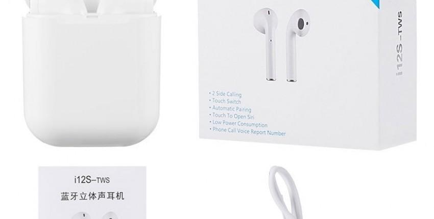 i12 TWS AirPods2 2019 novo i12S TWS Bluetooth 5.0 fone de ouvido  com super bass - comentários do cliente